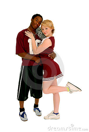 Football Player and Cheerleader Couple