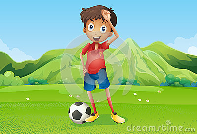 A football player at the field