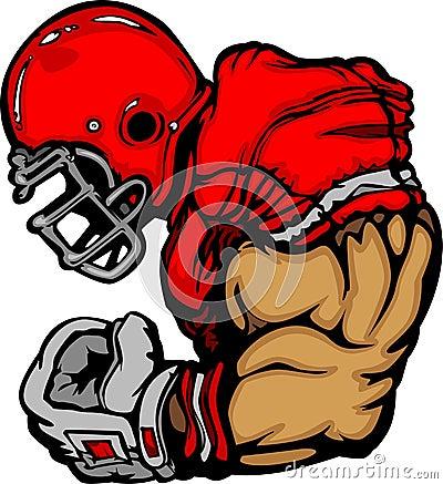 Free Football Player Lineman Vector Cartoon Royalty Free Stock Photography - 20596187
