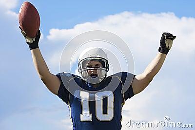 Football Player Touchdown