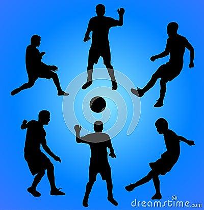 Football players. vector illustration