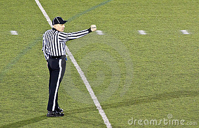 Football Referee Making A Signal Editorial Photo