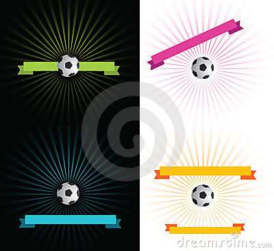 Football ribbons