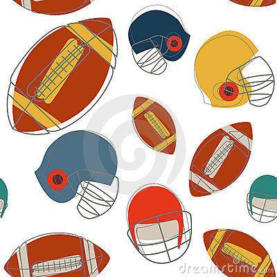Football seamless pattern