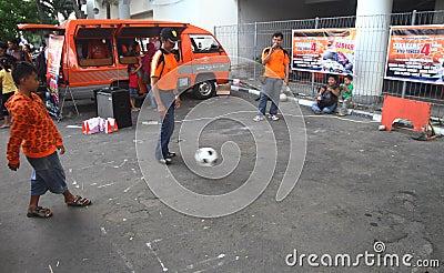 Football skill training Editorial Photography