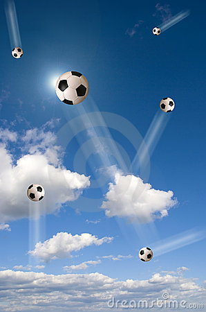 Football in the sky