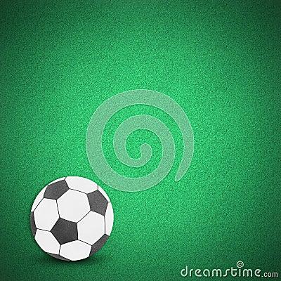 Football soccer ball green grass
