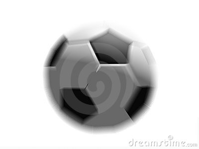 Football Soccer Ball in Motion