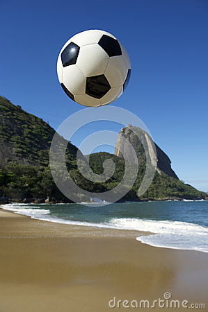 Football Soccer Ball Sugarloaf Mountain Rio de Janeiro Brazil