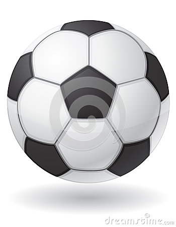 Football soccer ball vector illustration