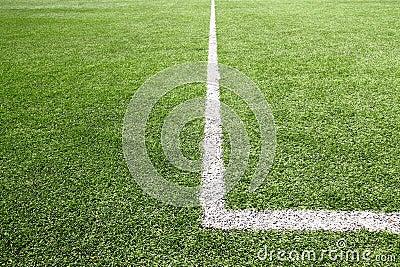 Football and soccer field grass stadium