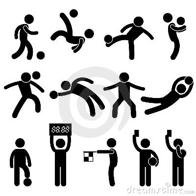 Free Football Soccer Goalkeeper Referee Pictogram Icon Stock Photo - 22851630