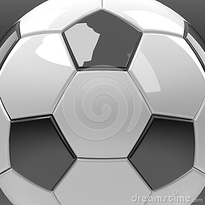 Football or soccer graphic close up isolate