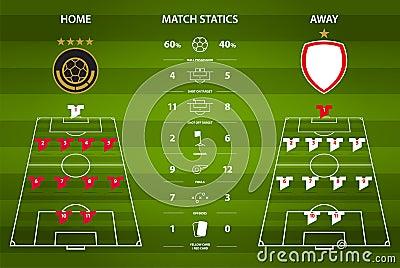 Football Or Soccer Match Statistics Infographic  Flat Design