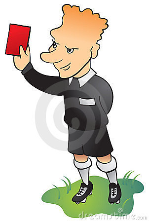 Football soccer referee in