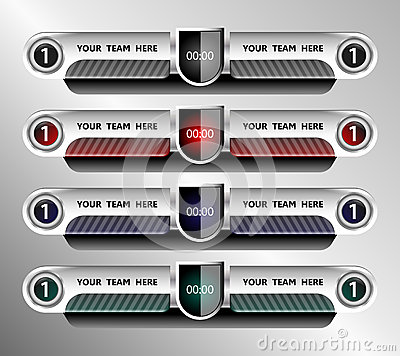 Scoreboard Template Football Vector Image 67788591 – Scoreboard Template