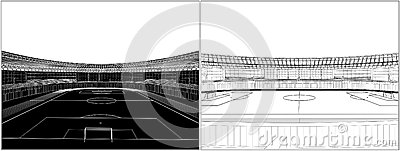 Football Soccer Stadium Vector 08