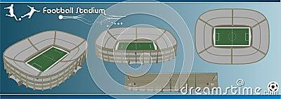 Football stadium 3d vector