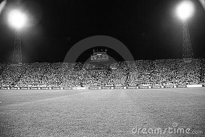 Football Stadium B&W Editorial Stock Image