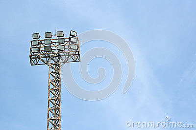 Football stadium floodlight