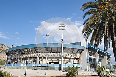 Football stadium in Palermo Editorial Stock Photo