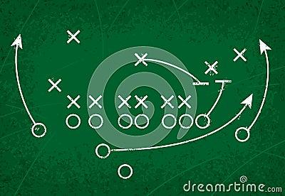 Football Strategy Play Vector Illustration