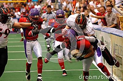 Football tackle blur