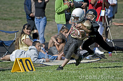 Football take down at the 10 Editorial Stock Image