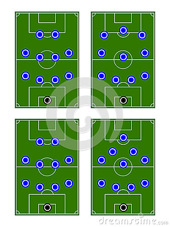 Football Team Formations Circles