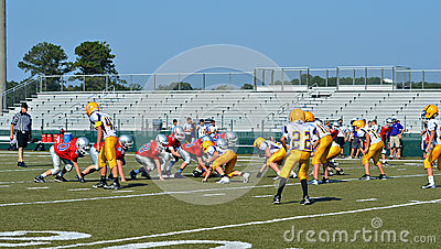 Football Teams at the Line Editorial Photography