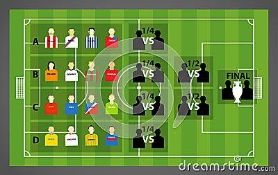 Football tournament scheme