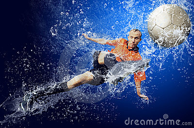 Football under water