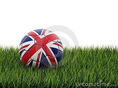 Football with united kingdom flag