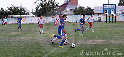 Football. Violent struggle Editorial Photography