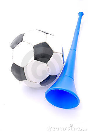Football and Vuvuzela horn