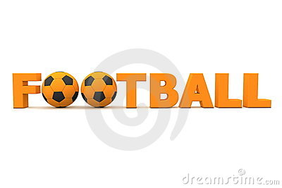 Football Word Orange Stock Images - Image: 13145304