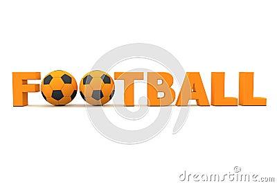 Football Word Orange