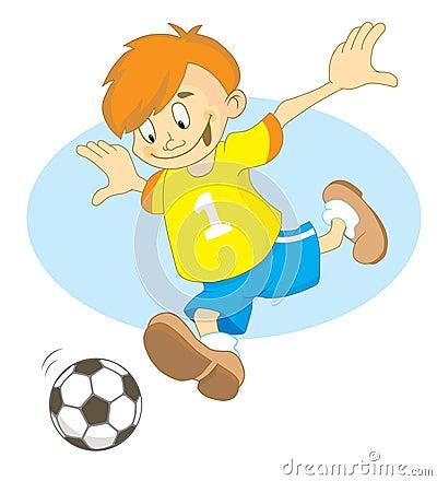 Footballer boy