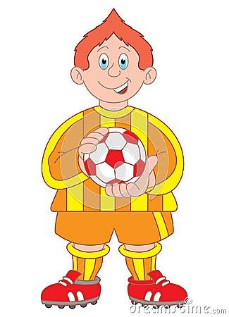 Footballer cartoon illustration