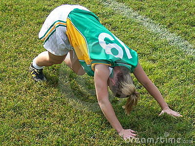 Footballer Stretching