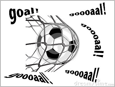 Footboll and net