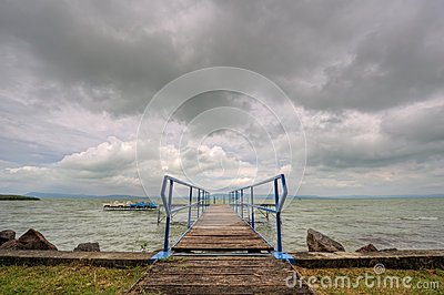 Footbridge at the Balaton