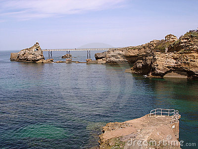 Footbridge In Biarritz