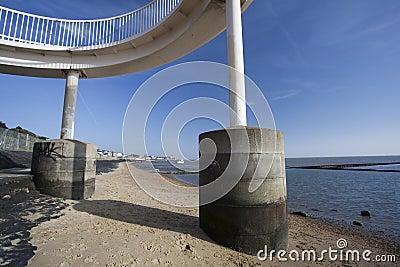 Footbridge at Leigh-on-Sea, Essex, England
