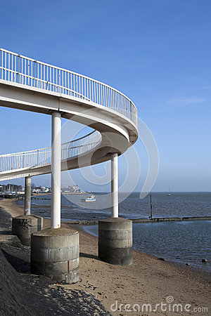 Footbridge at Leigh-on-Sea, Essex, England