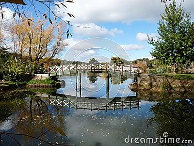 Footbridge over the Lake