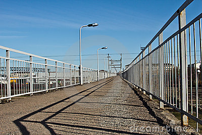 Footbridge over the railway