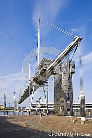 Footbridge over royal victoria dock by excel