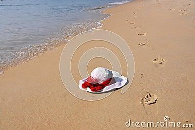 Footmarks on the sand