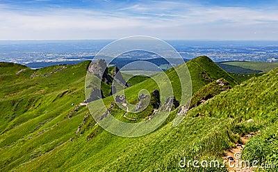 Footpath in Puy de Sancy Mountain